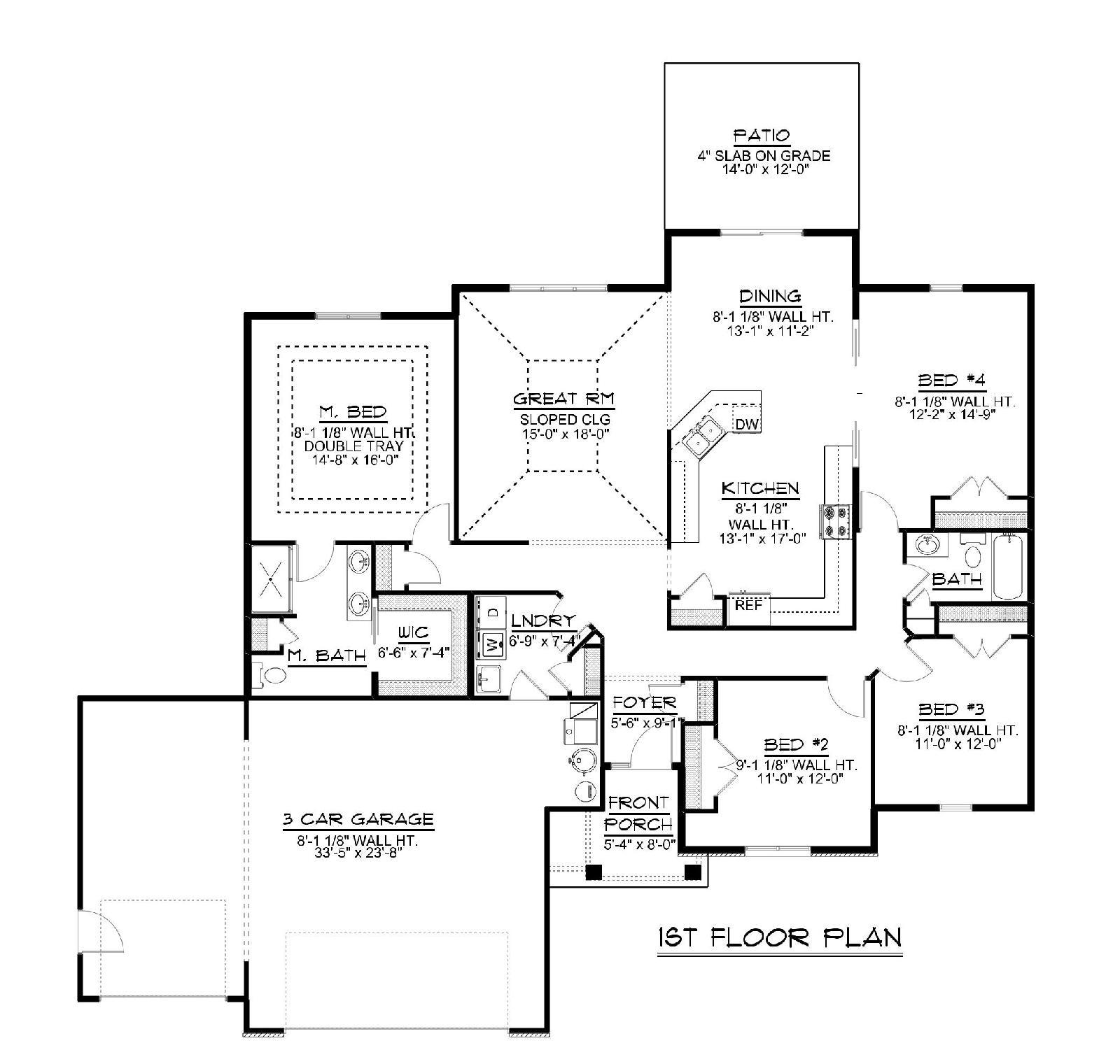 Slab on grade 2 story house plans for Slab on grade floor plans
